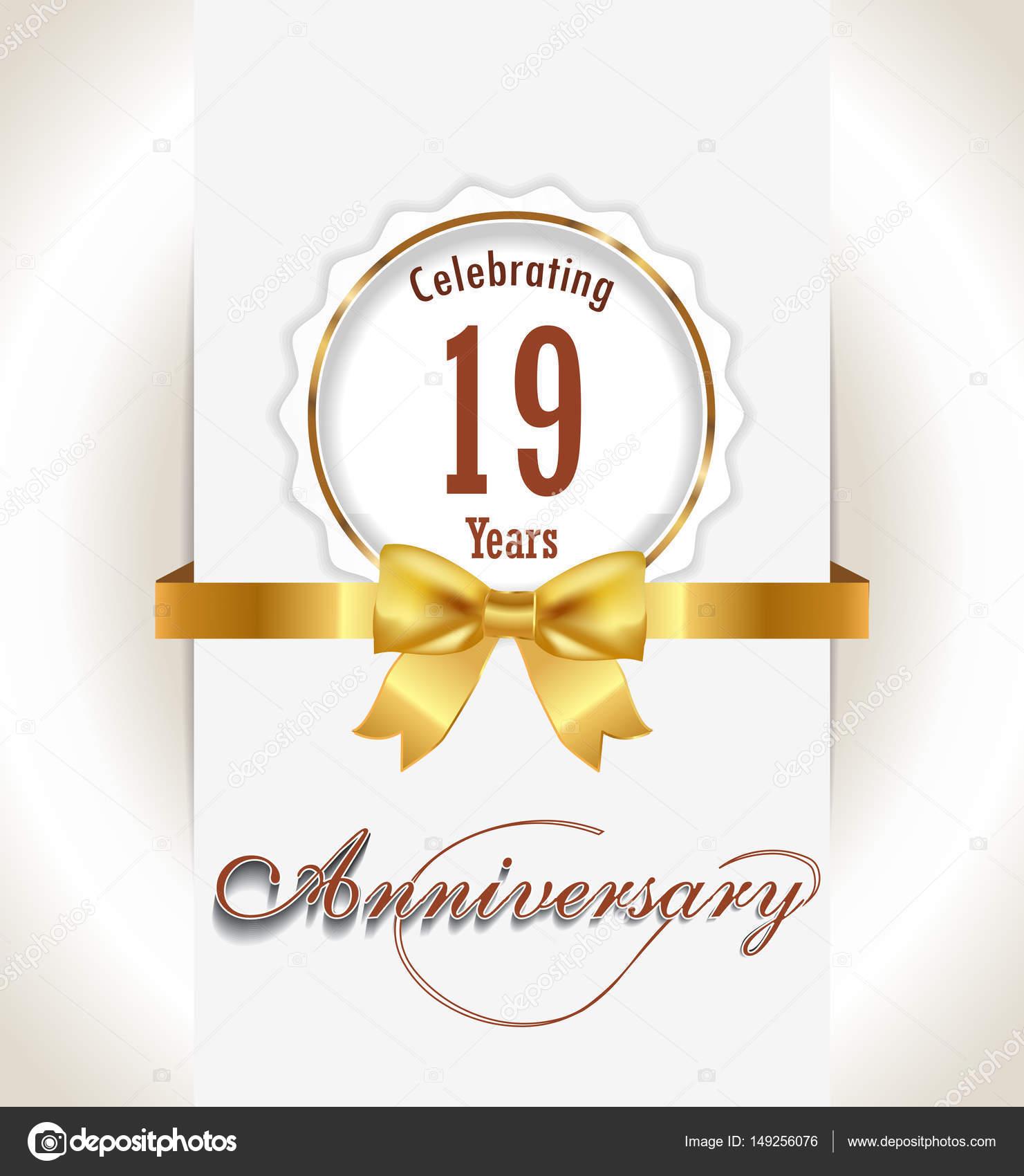 Anniversary Background Anniversary Celebration Invitation Card