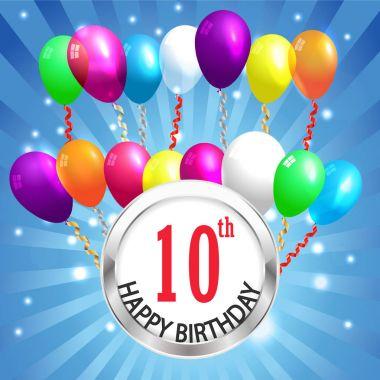 Anniversary background,  Anniversary celebration invitation card vector eps 10