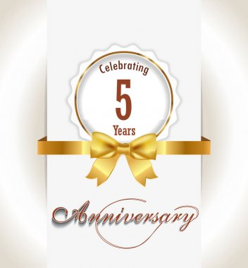 Anniversary background,  Anniversary celebration invitation card vector eps 10