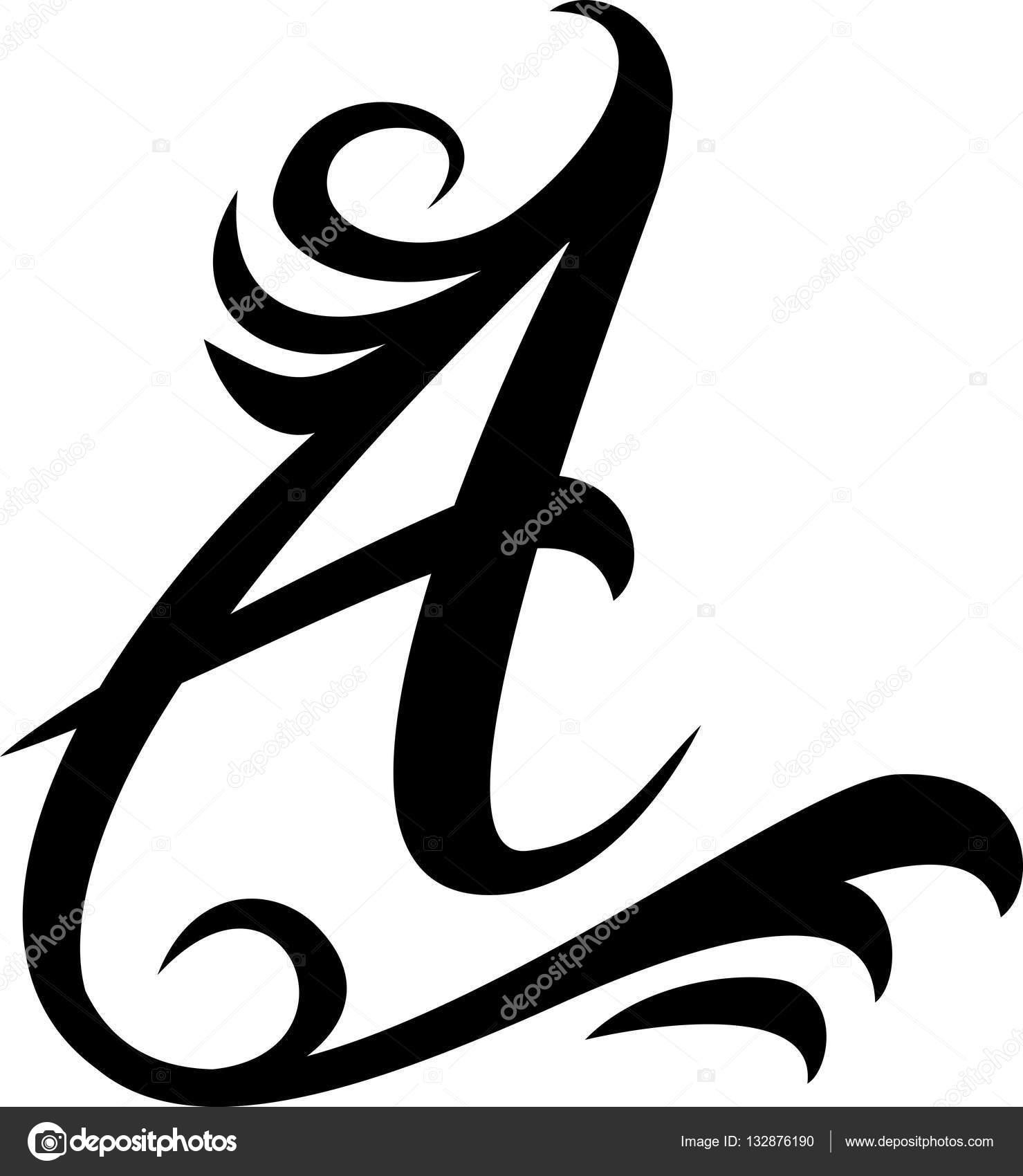 bfb2af4c8 Letra de preto A logotipo