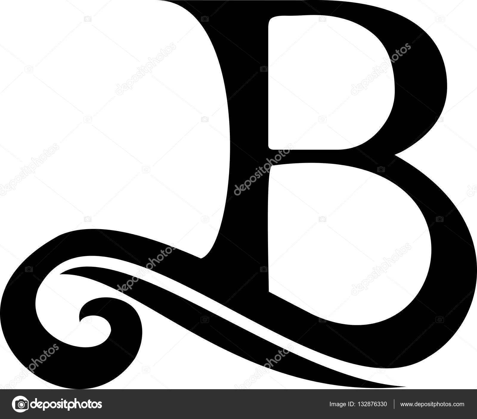 Black letra b logotipo vintage vetores de stock for La b b