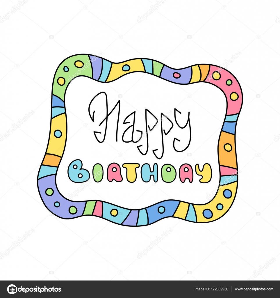 Feliz cumplea os ingenio de etiqueta infantil colorido - Feliz cumpleanos infantil animado ...