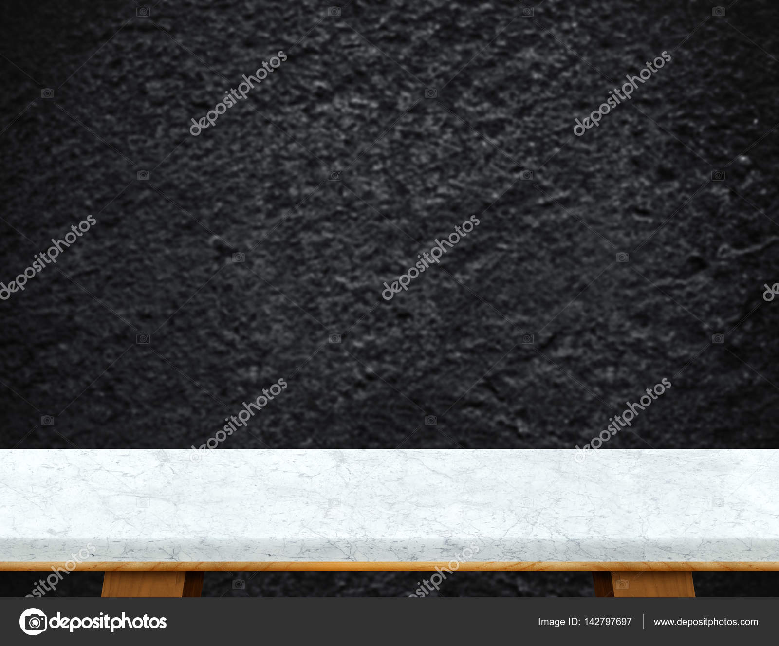marble table top texture. Empty White Marble Table Top With Blurred Black Rough Stone Wall \u2014 Stock Photo Texture