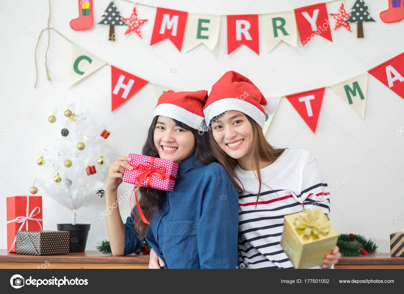 Lesbian christmas party photo