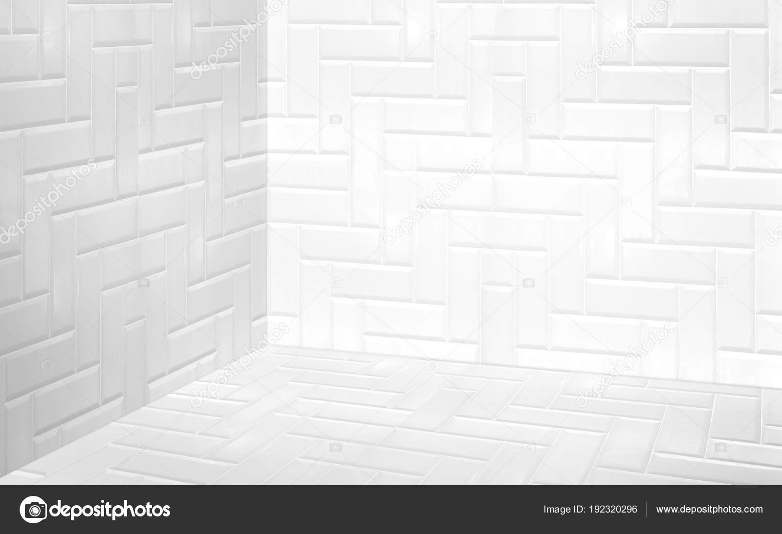 Vider Un Carrelage Moderne Blanc Mur Et Plancher Perspective Chambre  Du0027angle, Chambre De Style Moderne, Mock Pour Affichage De Produit,  Présentation De ...