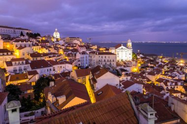 Cityscape of Lisbon at night
