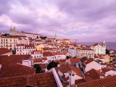 Cityscape of Lisbon, Portugal, seen from Portas do Sol,