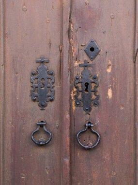 Old brown wooden doors