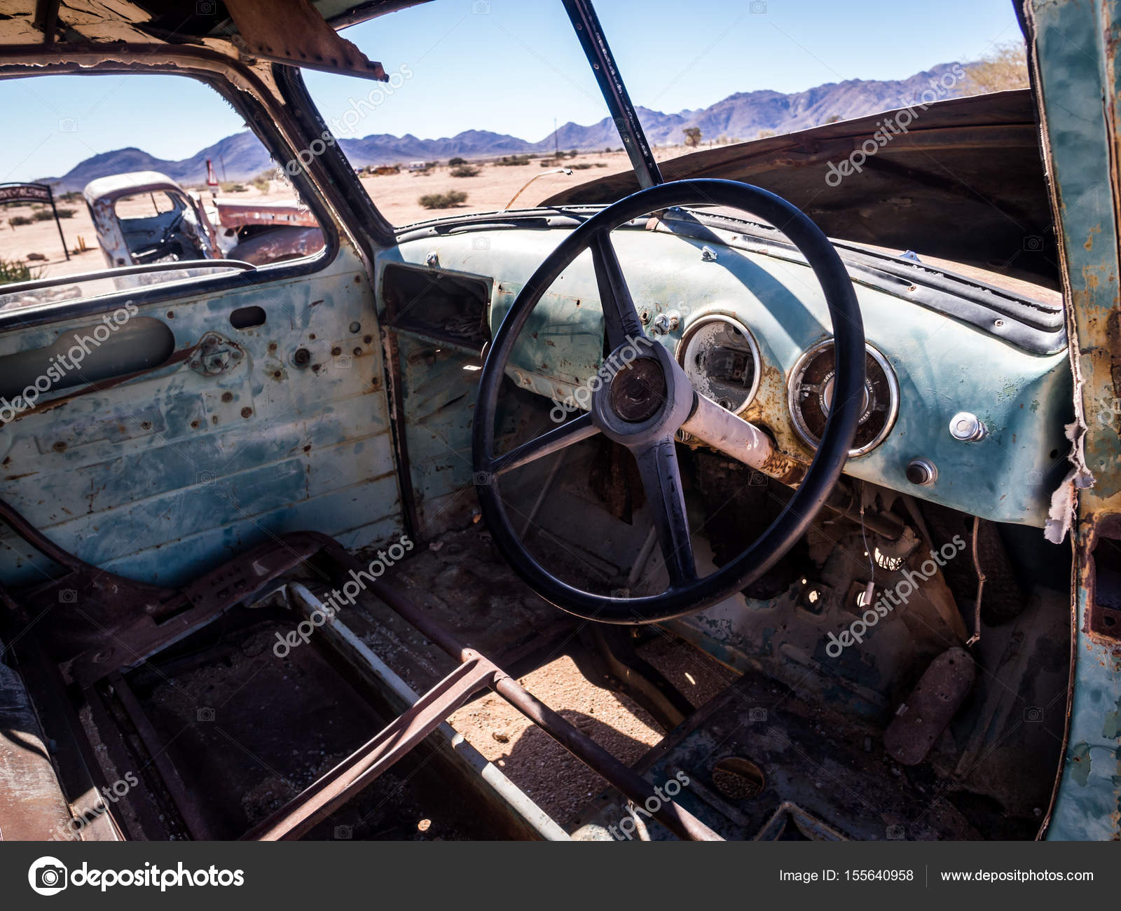 Old Chevrolet car wreck in Namibia – Stock Editorial Photo ...