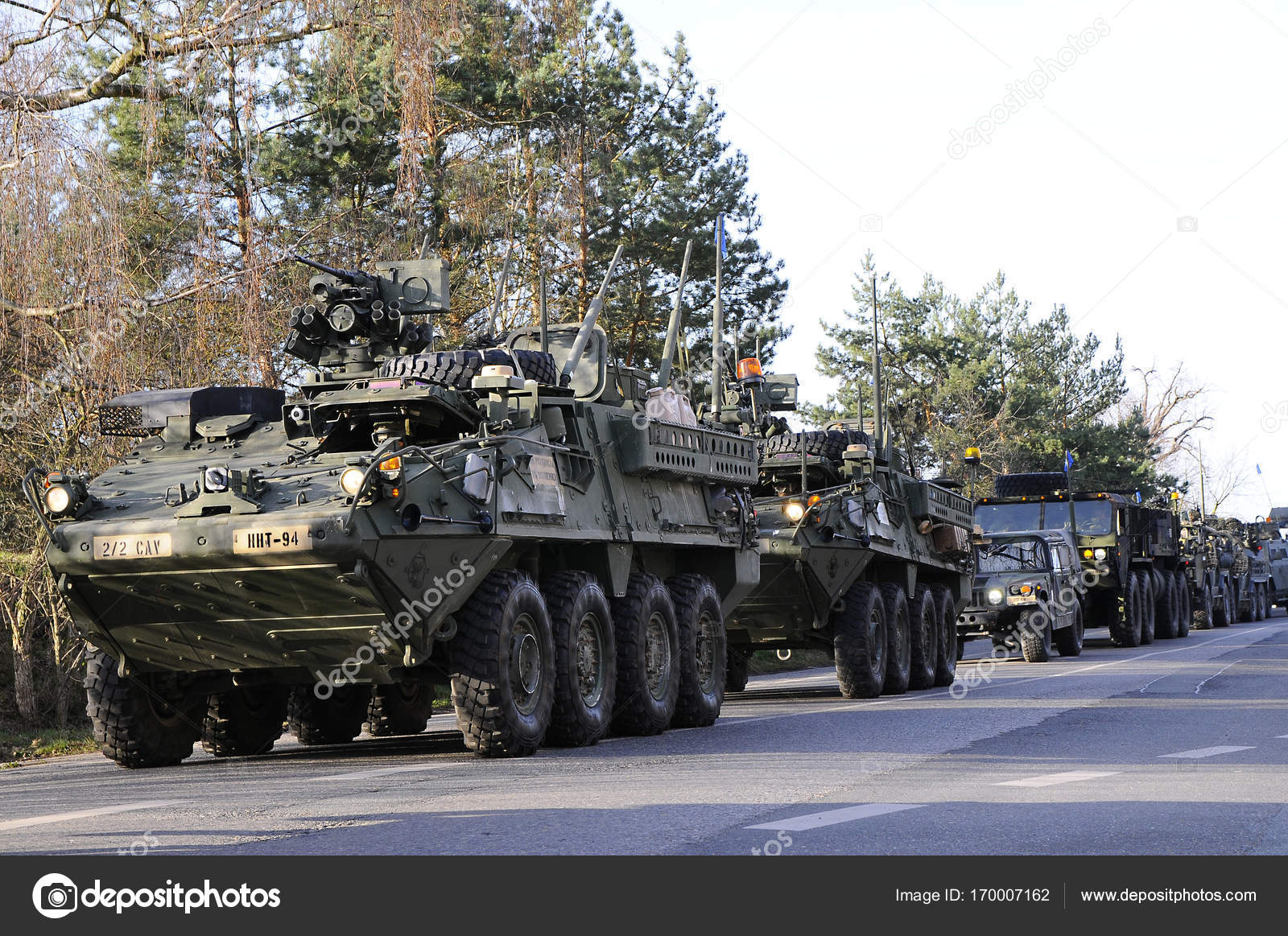 us army convoy 2732016 czech republic crossing to poland from old