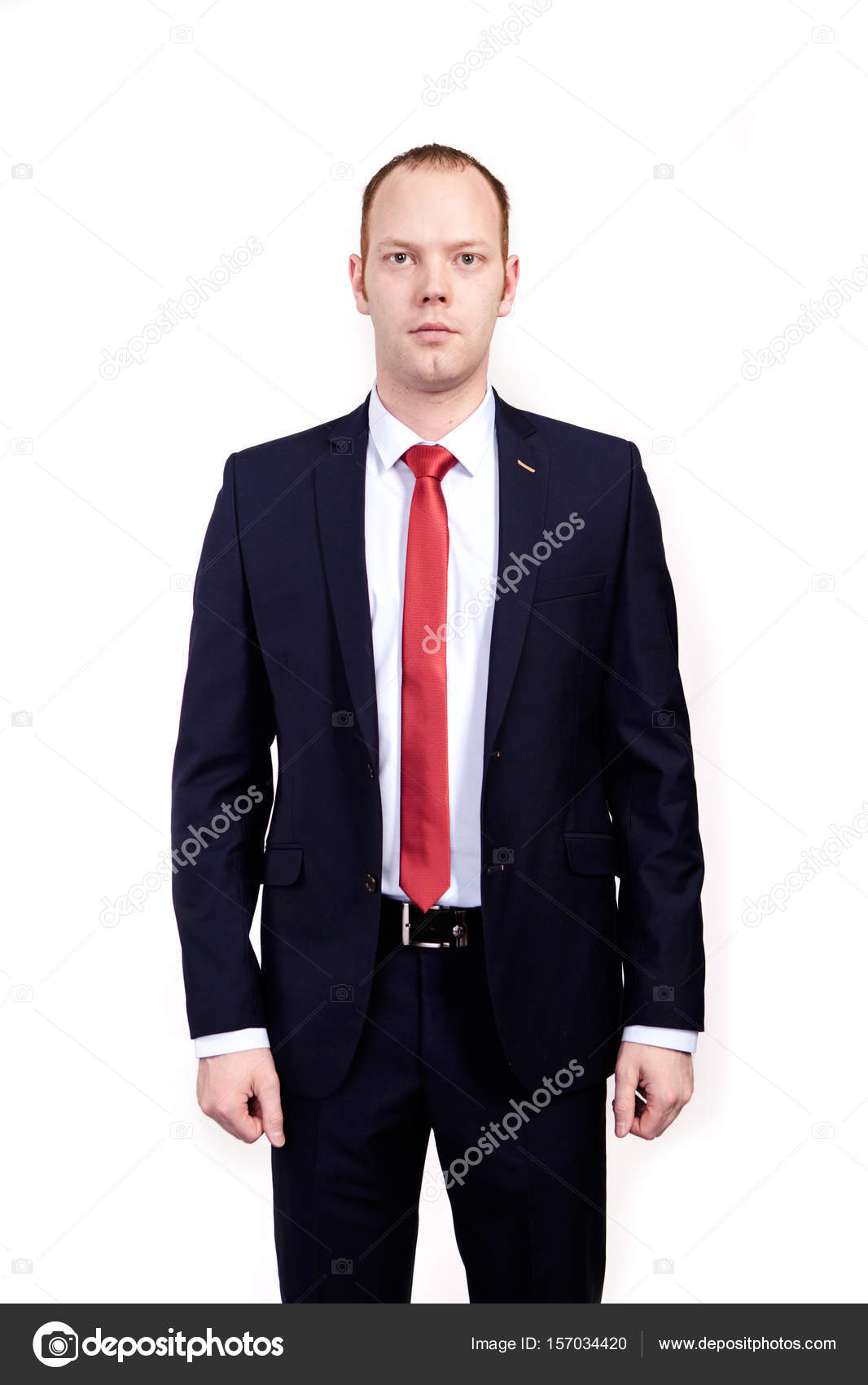 Respectable Senior Businessman Wearing Black Suit White Shirt And