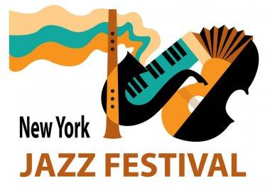 Jazz festival. Creative conceptual music festival vector.
