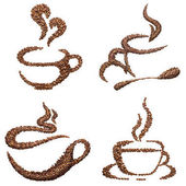 creativity made of roasted coffee beans