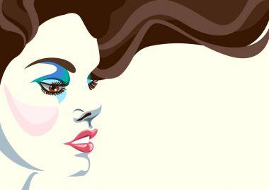 Portrait. Creative conceptual vector. Womans face.