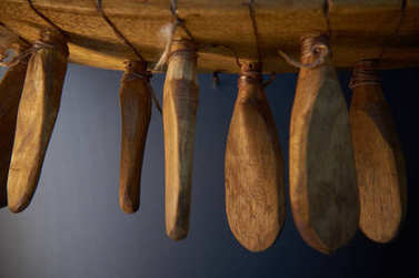 Fragments of Kazakh national musical instruments