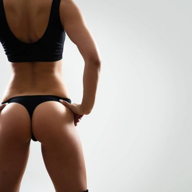 Back of beautiful woman with perfect figure