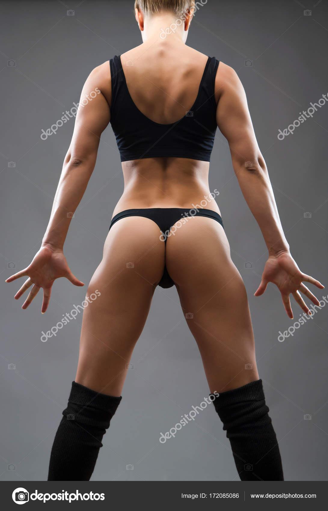 Frau Mit Perfekten Figur Stockfoto Chagin 172085086