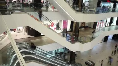 Minsk, Belarus, April 17, 2017: Shoppers visit the mall