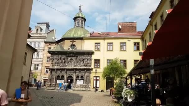 Lviv, Ukraine - July 16, 2019: The Chapel of Boim family is a small shrine in Lviv, Ukraine