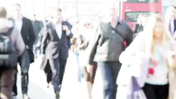 Fast motion London business commuters