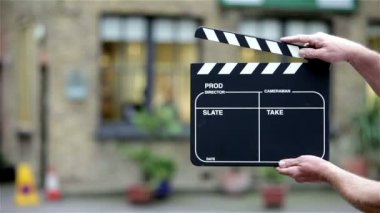 Video production slate (clapper board)