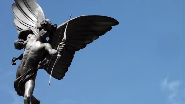 The Statue of Eros, Piccadilly Circus, London; time lapse