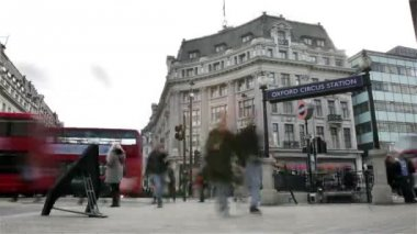 Oxford Circus tube station, London; time lapse
