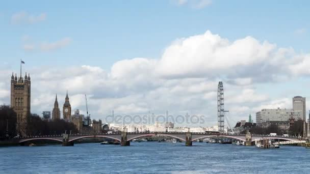 River Thames and Westminster, London, UK; 4k time lapse