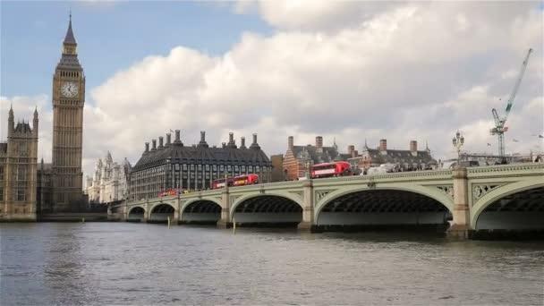 Londýn památky; Westminster Bridge, Big Ben a budova parlamentu