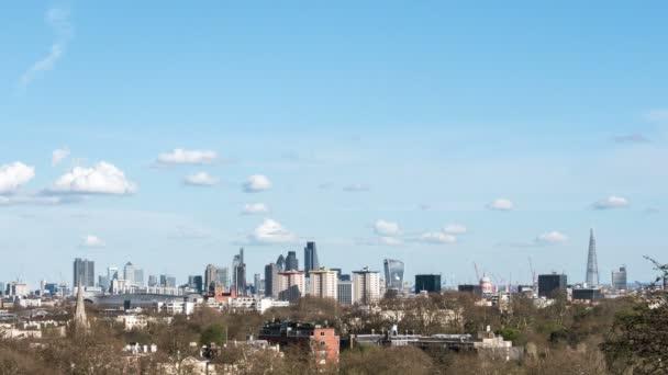 Z londýnské City Panorama. Čas zanikla 4k videozáznamu výhledem na panorama Londýna s mnoha klíčových architektonické památky v zobrazení včetně město mrakodrapů a The Shard