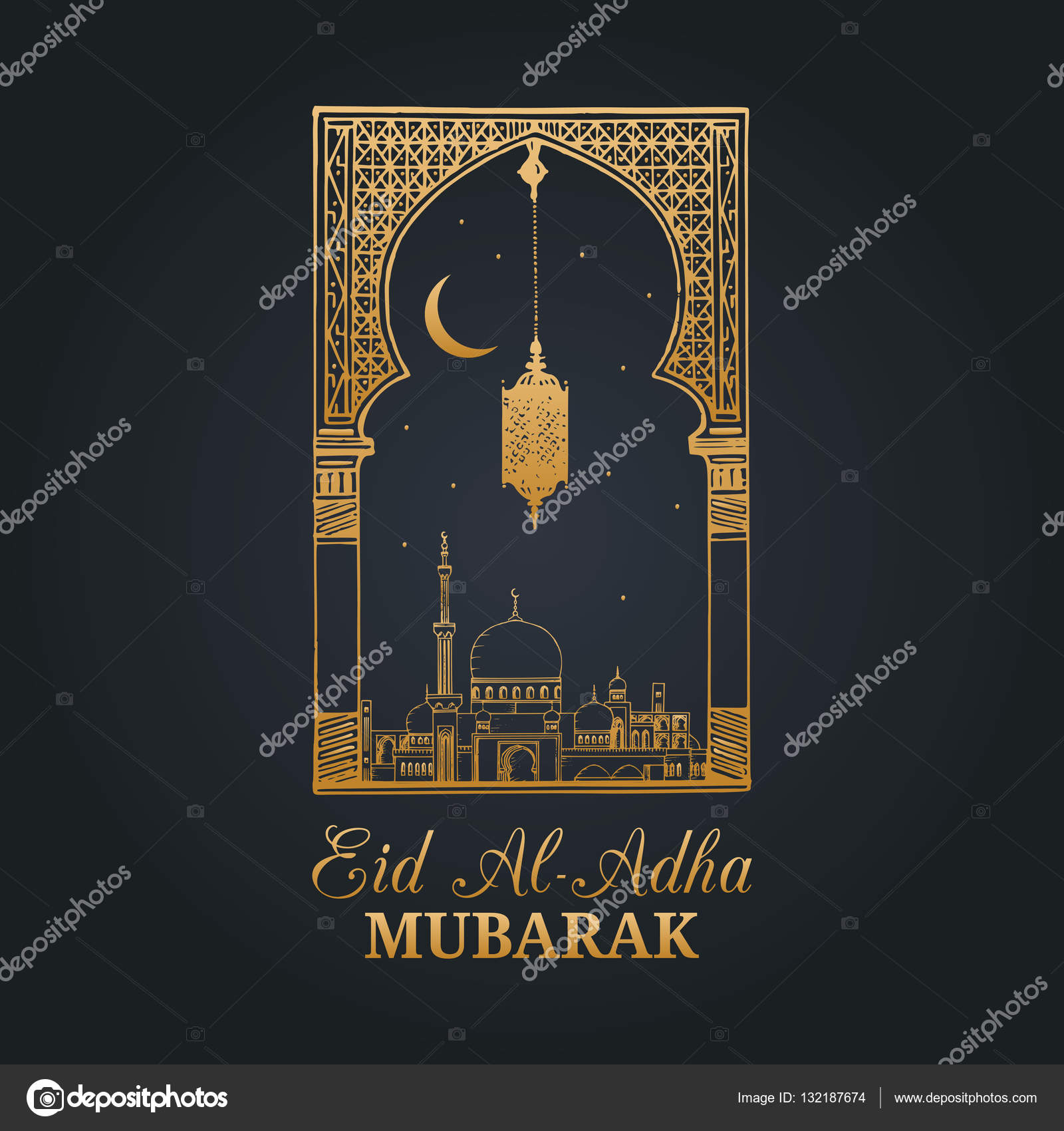 Eid al adha greeting card stock vector vladayoung 132187674 eid al adha greeting card stock vector m4hsunfo