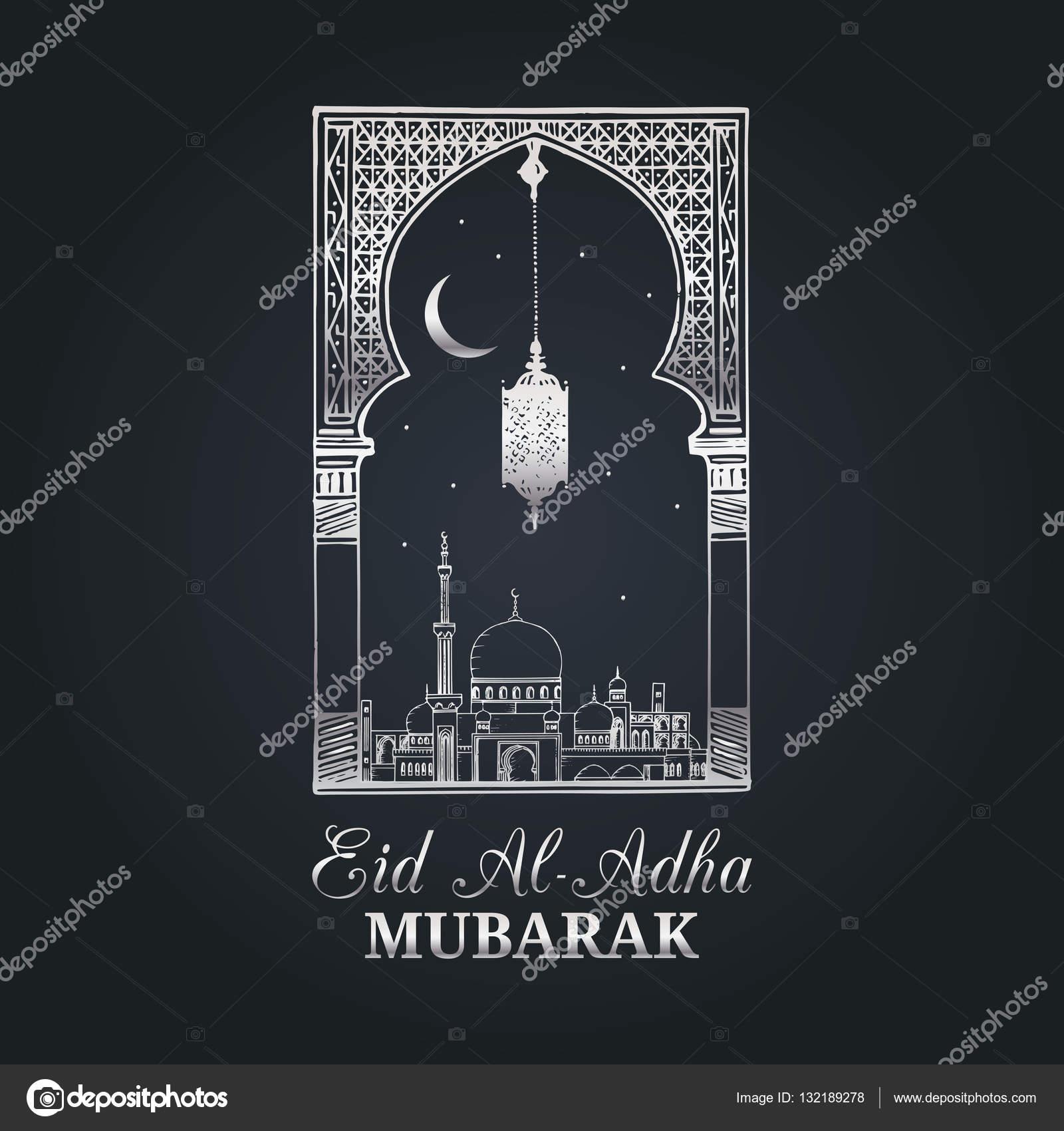Eid Al Adha Greeting Card Stock Vector Vladayoung 132189278