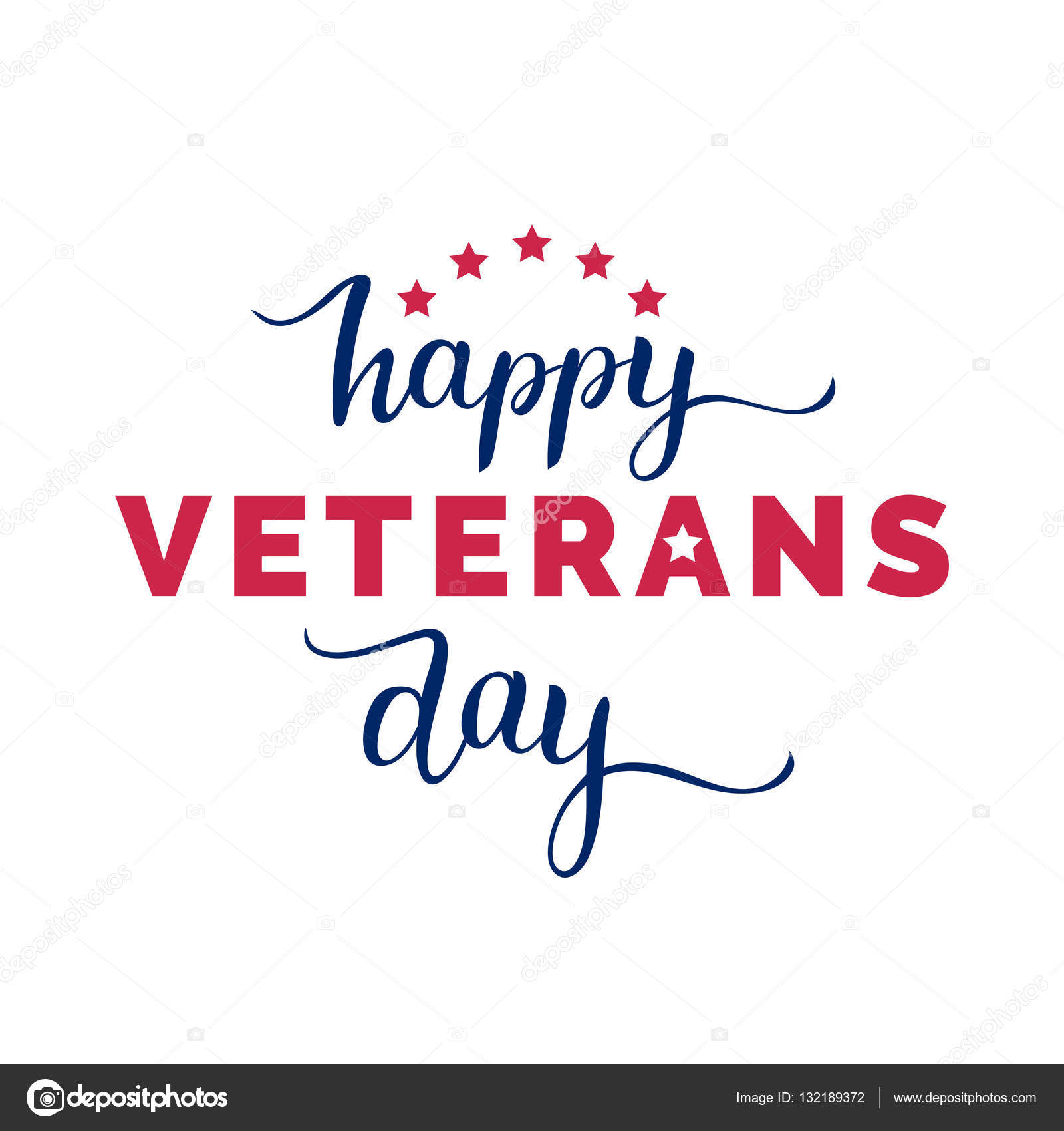 Veterans Day Greeting Card Stock Vector Vladayoung 132189372
