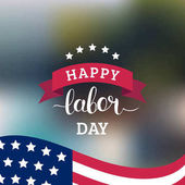 Fotografie labor day greeting card