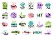 Fotografie zdraví a krása péče loga nebo štítky