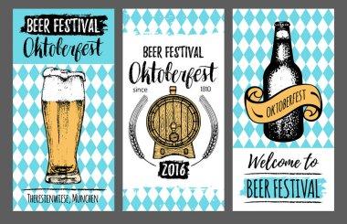 oktoberfest vintage banners set