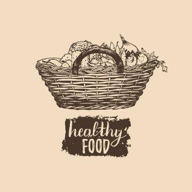 organic food hand-drawn icon