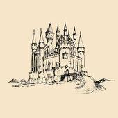 hrad i ručně tažené