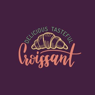 Delicious Tasteful Croissant logo