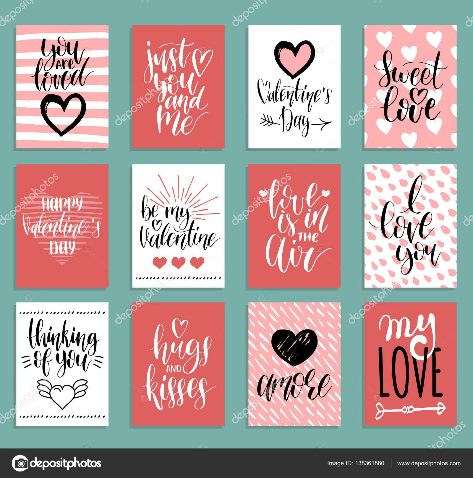 Plantillas de tarjeta de San Valentín — Archivo Imágenes ...