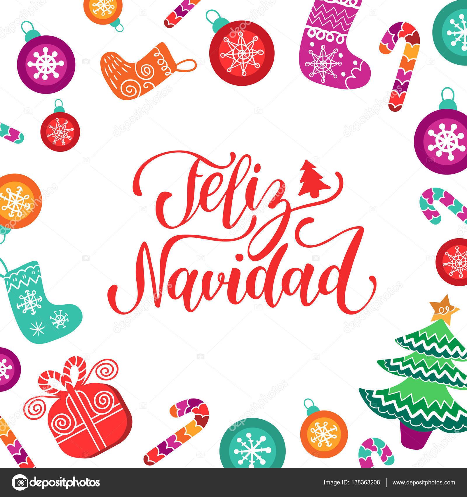 Feliz Navidad, Letras de feliz Navidad — Archivo Imágenes ...