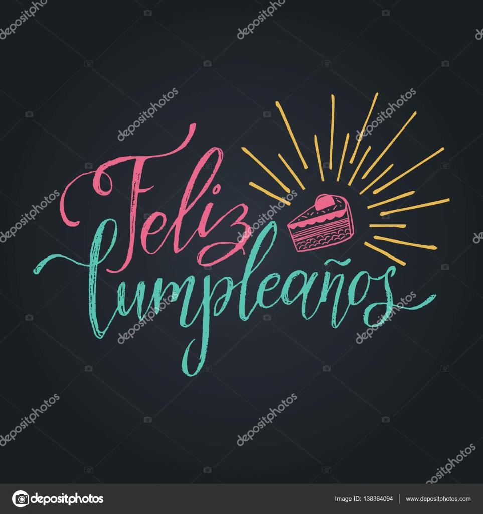 Feliz cumpleanos lettering design stock vector - Feliz cumpleanos letras ...