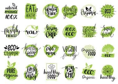 Vegan, healthy food set