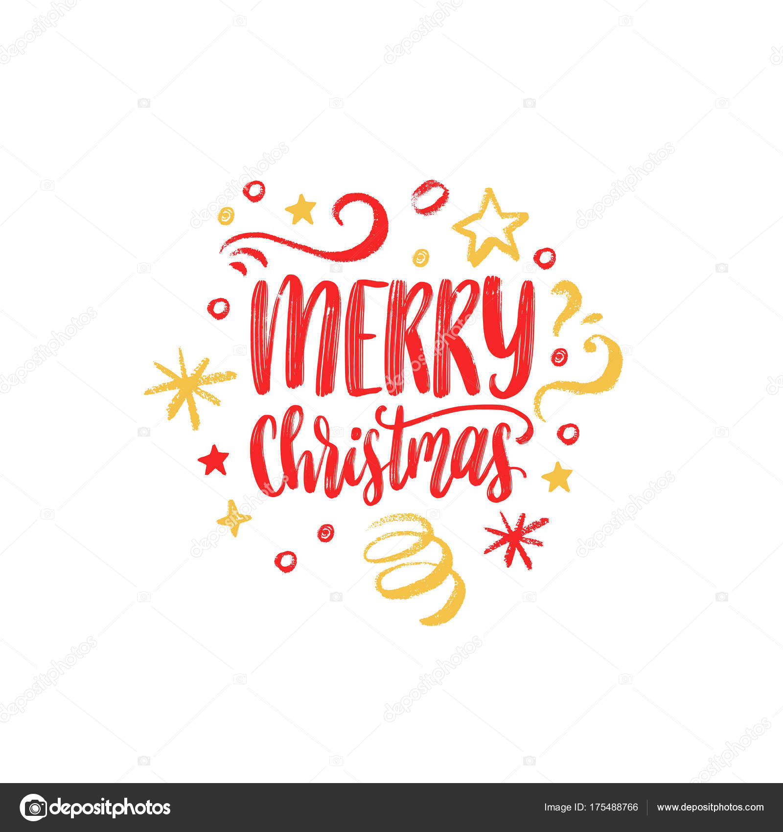 Merry christmas lettering vector calligraphic illustration happy merry christmas lettering vector calligraphic illustration happy holidays greeting card poster template vector by vladayoung kristyandbryce Image collections
