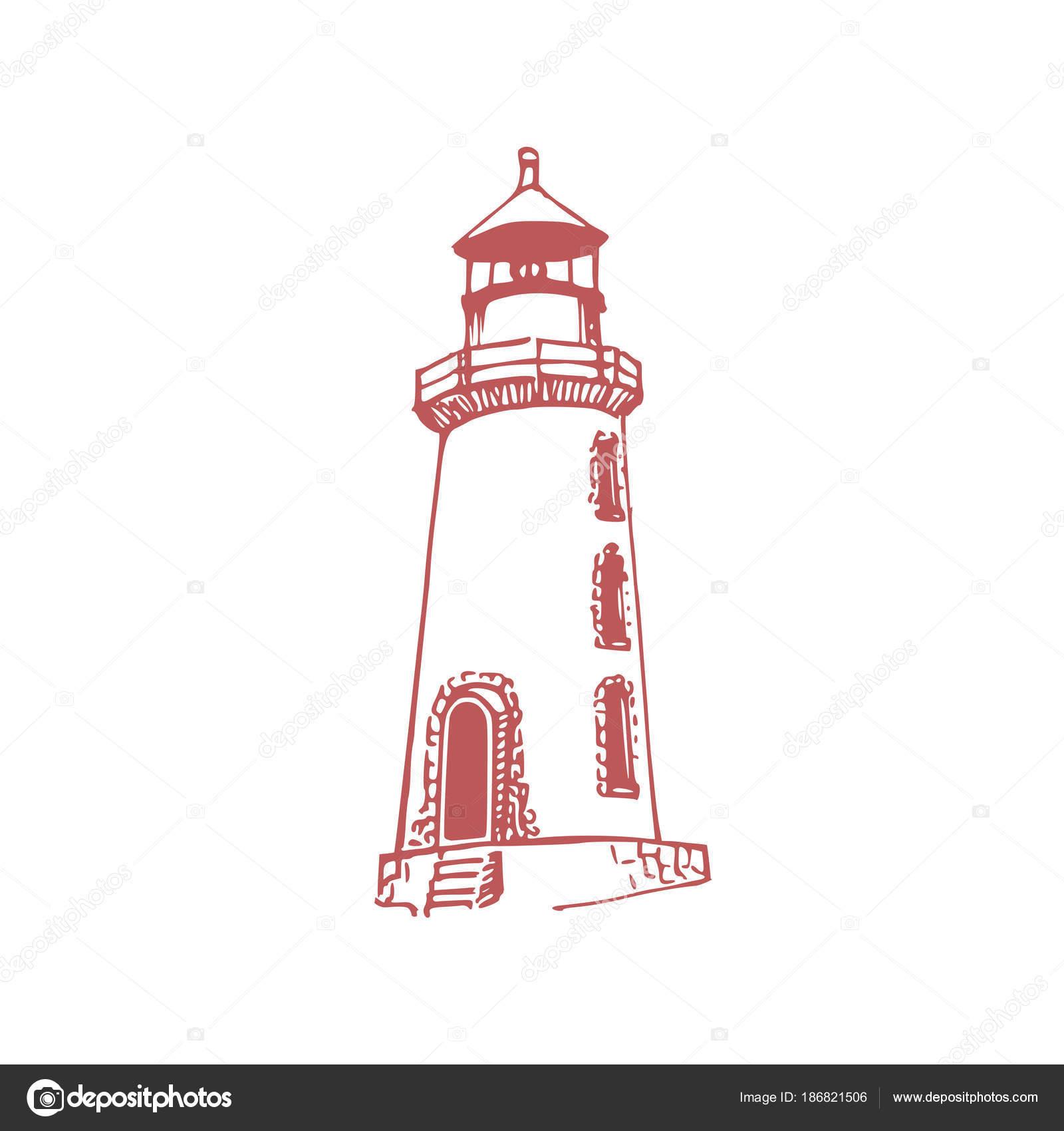 Dibujos Faros Para Imprimir Mano Dibuja Una Ilustración