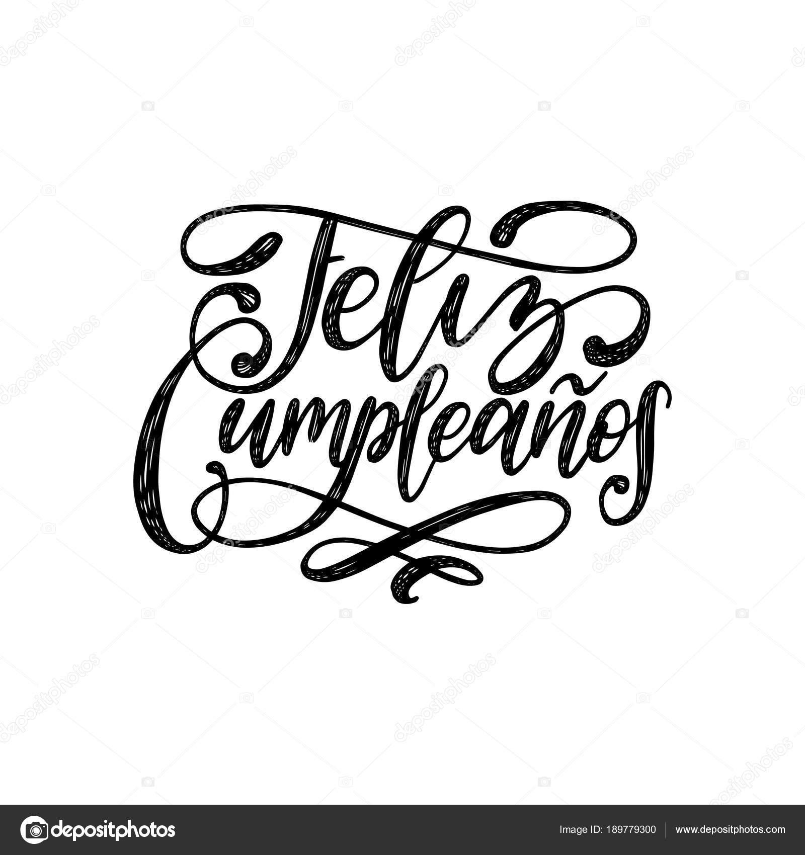 feliz cumpleanos traducido mano espa u00f1ol feliz cumplea u00f1os calligraphy vector font calligraphy vector free download