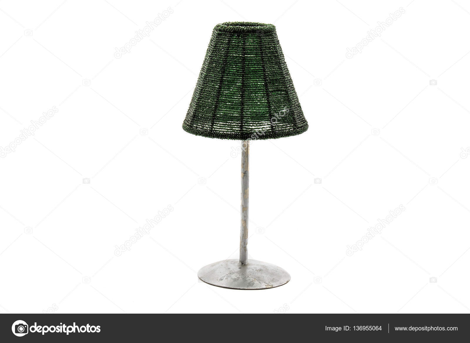 Home lighting vintage table lamp isolated on white background ...