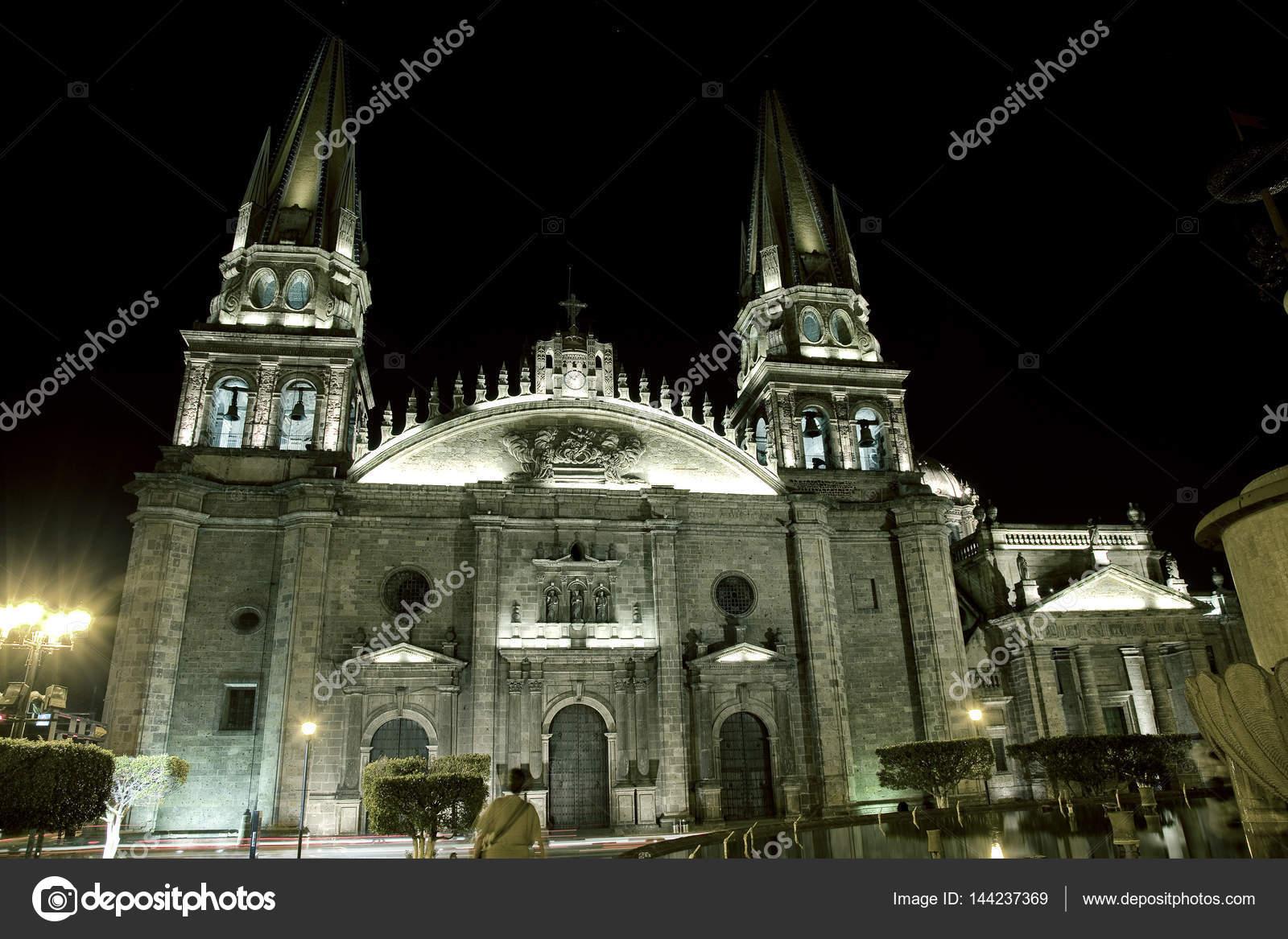 Historische Kirche Guadalajara Jalisco Mexiko Stockfoto