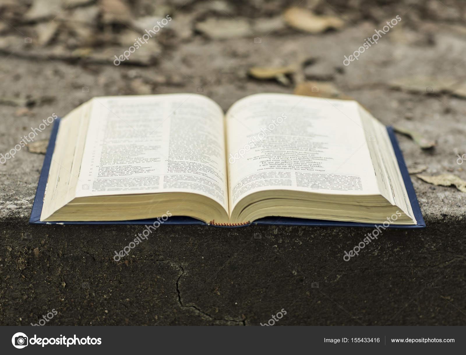 Santa Biblia Abierta Stockfoto Camaralenta 155433416