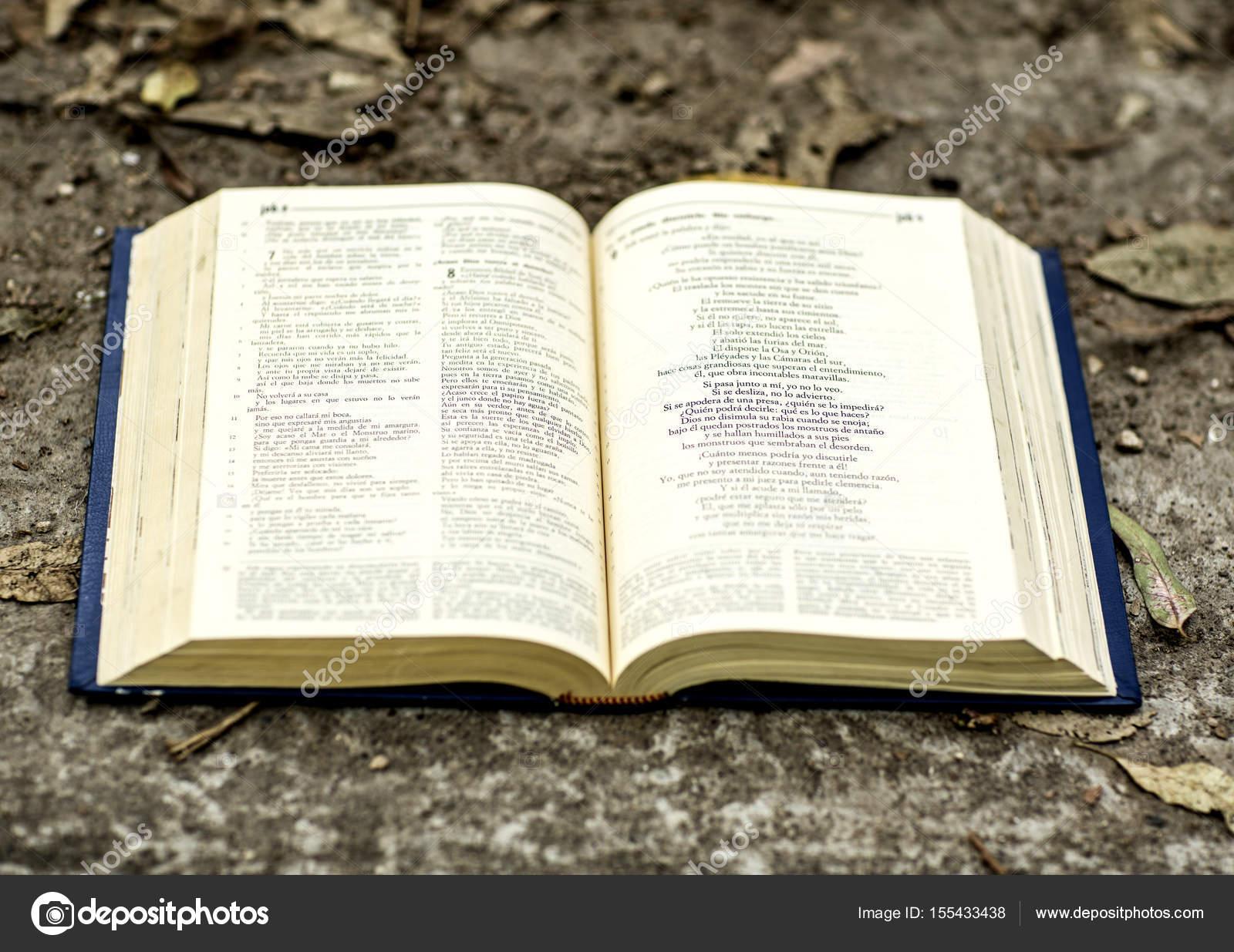 Santa Biblia Abierta Stockfoto Camaralenta 155433438